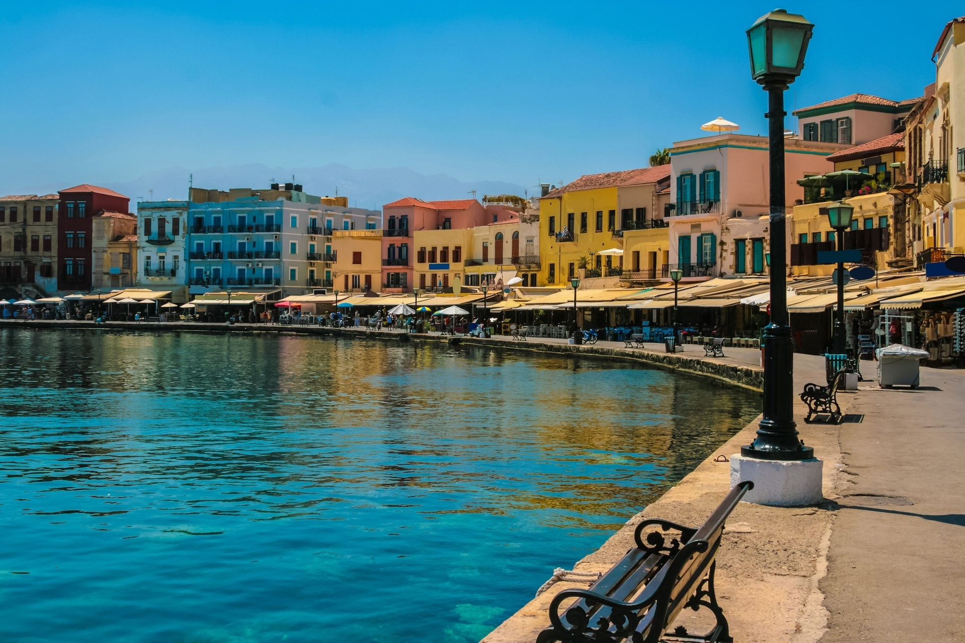 Old Venetian harbor aspect, Chania
